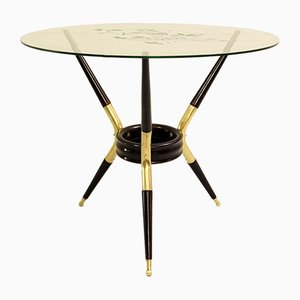 Italian Tripod Table with 3 Angular Legs Attributed to Cesare Lacca, 1950s