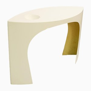 French Les Arcs 1600 Console in White Resin by Charlotte Perriand, 1969