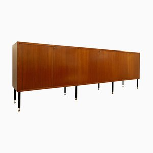 Long Teak Sideboard, Italy, 1960s