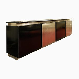 Sideboard in Stained Oak and Aluminium by Ludovico Acerbis, 1960s