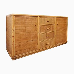 Bamboo and Rattan Sideboard, 1970s