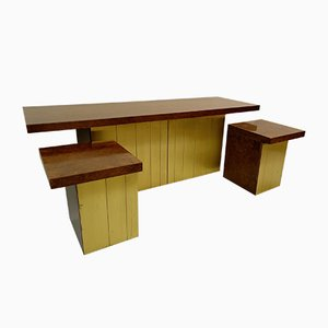 Credenza and Nightstands by Luciano Frigerio, 1970s, Set of 3