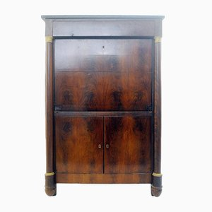 19th Century French Empire Style Secretaire Cabinet in Mahogany