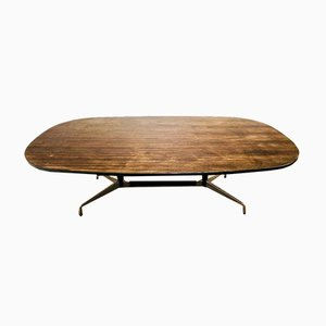 Eames Wooden Table in Zebrano Veneer, 1980s