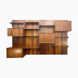 Rosewood Wall Unit by Poul Cadovius, Denmark, 1960s