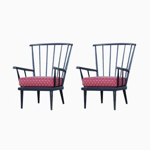French Lounge Chairs by Joamin Baumann for Baumann, 1950s, Set of 2