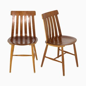 Swedish Teak Game Chairs by Jan Hallberg for Tallåsen, 1960s, Set of 2