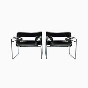Wassily Chairs by Mart Stam & Marcel Breuer, 1990s, Set of 2