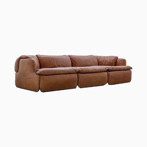 Leather Model Confidential Sofa by Alberto Rosselli for Saporiti Italia, 1972