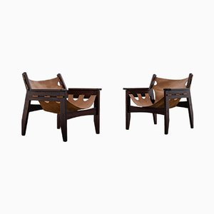 Mid-Century Brazilian Rosewood Lounge Chairs by Sergio Rodrigues for OCA, 1973, Set of 2