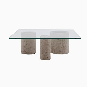 Travertine Coffee Table by Massimo Vignelli for Casigliani, 1970s