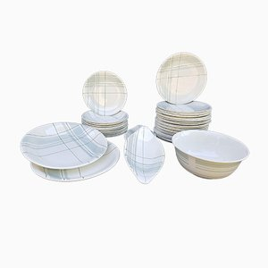 Ceramic Dinner Set from Salins Les Bains, 1960s, Set of 41