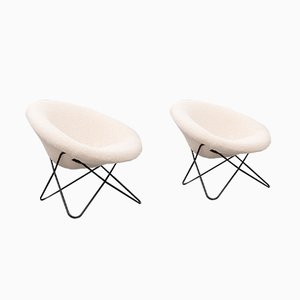 Mid-Century French Hairpin Chairs, 1950s, Set of 2