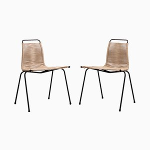 Model PK1 Side Chairs by Poul Kjærholm for E. Kold Christensen, 1950s, Set of 2