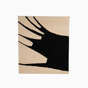 Black and White Wool Abstract Tapestry by Jan van den Bergh, 1977
