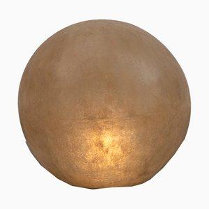 Large Vintage Fiberglass Globe Floor Lamp, 1970s