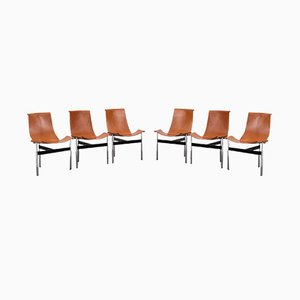 T-Chairs by Katavolos, Kelley and Littell for ICF De Padova, 1952, Set of 6