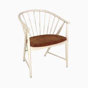 Schwedischer Modell Solfjädern Beistellstuhl von Sanna Rosen für Nässjö Stolfabrik, 1950er