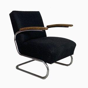 Fauteuil Cantilever Modèle S411 Vintage par WH Gispen pour Thonet