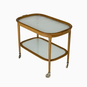 Swedish Modern Serving Bar Cart, 1940s
