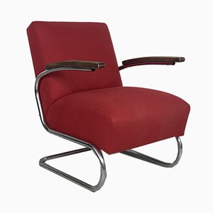 Vintage Model S411 Cantilever Armchair by W. H. Gispen for Thonet