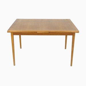Swedish Extendable Teak Dining Table, 1960s