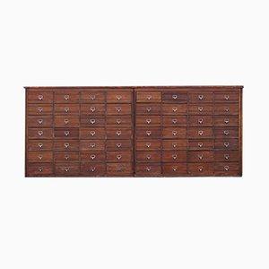 Vintage Industrial French Wooden Workshop Cabinet, 1920s