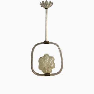 Lampe à Suspension en Verre de Murano par Ercole Barovier, 1940s