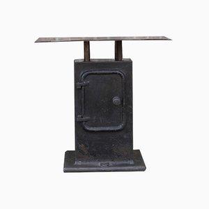 Industrieller Vintage Konsolentisch aus Gusseisen, 1920er