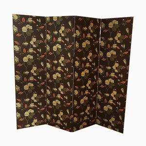 Double Face Sided Screen with Tokyo and Fabienne Wallpapers by Leleu Deshays, 1950s