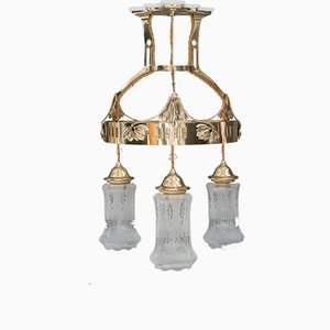 Antique Jugendstil Austrian Chandelier, 1900s