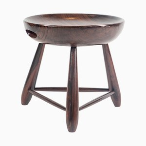 Mid-Century Brazilian Rosewood Mocho Stool by Sergio Rodrigues for OCA, 1950s