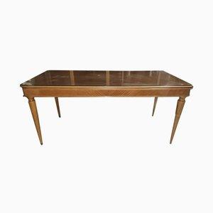 Italienischer Esstisch mit Holzfurnier, 1950er