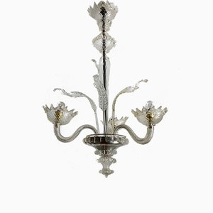 Vintage Murano Glass Chandelier, 1950s