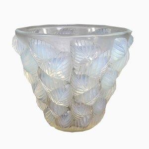 Opalglas Vase von R.Lalique für Maison Lalique, 1927