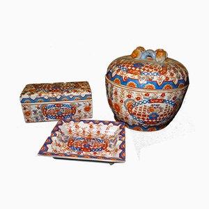 Antique Chinese Guangxu Period Porcelain Set, Set of 3