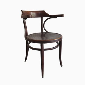 Mid-Century Holz Bistro Stuhl von Thone, 1950er