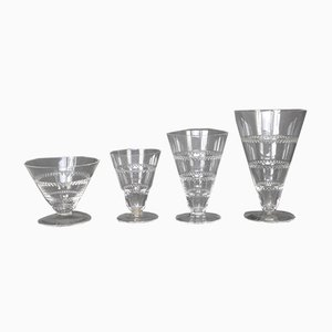 Vouvray Glass Set by R.Lalique for Maison Lalique, 1932, Set of 40