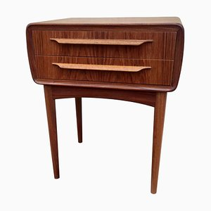 Small Mid-Century Danish Rounded Teak Chest of Drawers by Johannes Andersen, 1960s