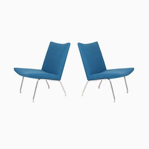 Mid-Century Lounge Chairs by Hans J. Wegner for A.P. Stolen, 1960s, Set of 2