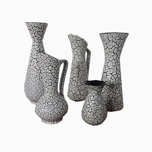 Ceramic Model Cortina Vases from Jasba, 1950s, Set of 5