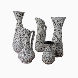 Vases Modèle Cortina en Céramique de Jasba, 1950s, Set de 5