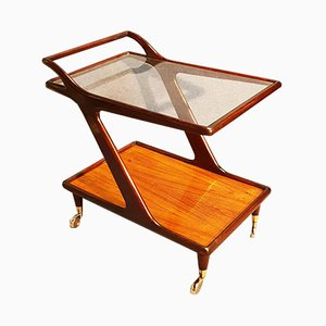 Italian Rosewood Trolley Attributed to Cesare Lacca, 1950s