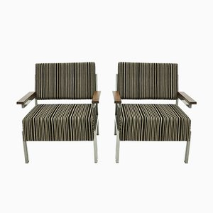 Mid-Century Dutch Rosewood Armchairs, 1960s, Set of 2