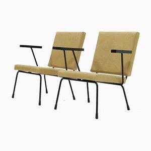 Vintage Modell 1401 Armlehnstühle von Wim Rietveld für Gispen, 1954, 2er Set