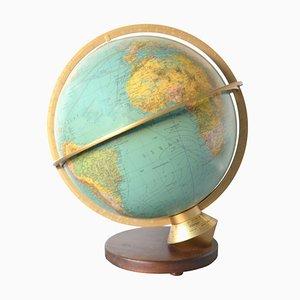 Beleuchteter Mid-Century Duplex Globus von Paul Oestergaard für Columbus Verlag