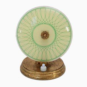 Grüne Mid-Century Glas Tischlampe