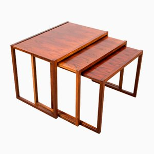 Danish Rosewood Nesting Tables from Vildbjerg Møbelfabrik, 1960s, Set of 3