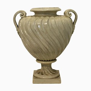 Große antike englische Doulton Urne mit zwei Griffen