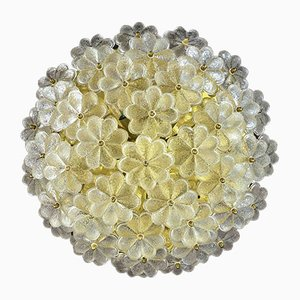 Mid-Century Glass Floral Ceiling Lamp from Ernst Palme, 1960s